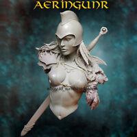 Unpainted 1:10 Female Warrior Bust Model Resin Figure Kit Garage Kit Statue NEW