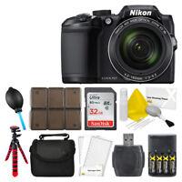 Nikon COOLPIX B500 16MP Digital Camera (Black) + 32GB Top Vaue Bundle Brand New