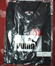 Puma golf shirt black sample sz M unisex mens womens performance white gold logo