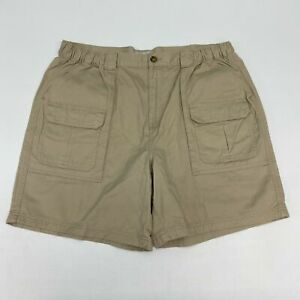 Croft & Barrow Cargo Shorts Men's 40 Tan Multi-Pocket Regular Fit Cotton Casual