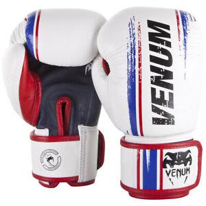 Venum Bangkok Spirit Hook and Loop Sparring Boxing Gloves - White
