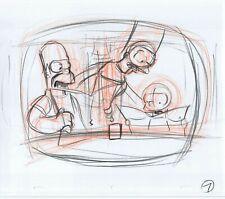 Simpsons Homer Marge Maggie Original Art Animation Production Pencils Rough 7