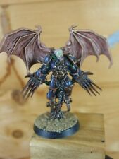 CONVERTED PLASTIC WARHAMMER CHAOS SPACE MARINE LORD WITH JUMP PACK PAINTED (1431