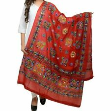 Dupatta Cotton Women Embroidery & Mirror Work Stylish Ethinic Multicolour Stole