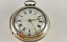Antique original English Verge Fusee key wind pocket watch. Runs great! 1755!