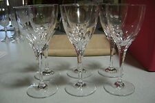 Hochwertiges Bleikristall Sonderschliff Set of 6 Clear Crystal Wine Glasses w/bx