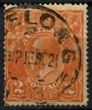 Australia 1917-23 SG#62, 2d Orange KGV Used #D48559