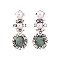 Earrings Nails Golden Chandelier Star Pearl Retro Baroque AA20