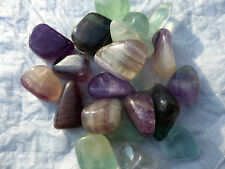 Fluorite Tumble-stones - Three Colours - Three Tumble-stones