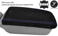 PURPLE STITCH REAL SUEDE ARMREST LID COVER FITS SUBARU FORESTER SG9 2006-2008