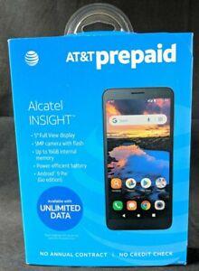 "Alcatel INSIGHT 5005R - AT&T PREPAID - Pebble Gray - 5"" 5MP 16GB Android 9 - NEW"