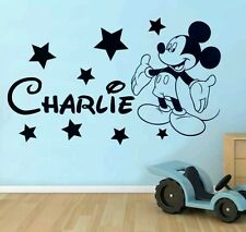 Mickey Mouse wall sticker  Disney Style Personalised any name boys wallart