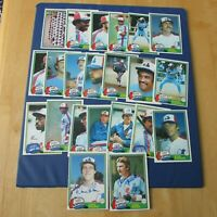 MONTREAL EXPOS 1981 COLLECTION (133 items different) OPC cards SIGNED ODD items
