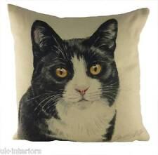 43.2cm Negro Gato Blanco Cojín Evans Lichfield DP936 43cm waggydogz gatito