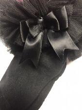 Baby Girls Black Frilly Bow Lace Tutu Socks Infant Newborn Toddler Ankle Socks