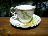 VINTAGE ROYAL STAFFORD TEA CUP AND SAUCER BROOM PATTERN C 1930's ART DECO