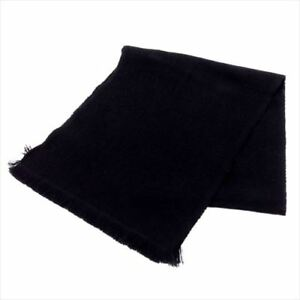 Dior Homme Scarf Black  Wool 100% Mens Authentic Used T8007