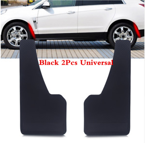 Universal 2Pcs Black ABS Car Mud Flaps Wheel Moulding Fenders Trim Mudguard Kits