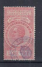 1924 MARCHE DA BOLLO ATTI AMMINISTRATIVI 2 LIRE USATA
