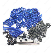 Blue Fairing Bolt Kit body screws Clips For Kawasaki ZX6R 2005-2006 ZX6R 07-08