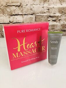Pure Romance Hot Heart & Serenity Melon Aromatherapy Massage Lotion Gift Set NEW