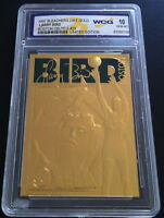 LARRY BIRD 1997 LIMITED EDITON WCG GEMMT 10 23KT GOLD CARD! BOSTON CELTICS! #33!