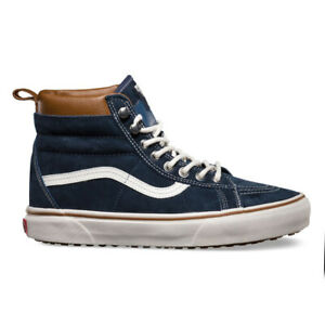 "Vans ""SK8-Hi MTE"" Sneakers (Dress Blues/Marshmallow) Wheaterized Outdoor Shoes"