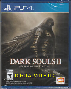 Dark Souls II 2 Scholar of the Sin PS4 Brand New Factory Sealed PlayStation