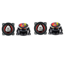BOSS 4 Inch 200W 2 Way Car Audio Coaxial Speakers Stereo, Red PAIR (4 Pack)