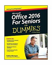 Office 2016 For Seniors For Dummies (For Dummies (Computer/Tech)) Free Shipping
