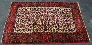 Antique Mobarakeh estate rug 1920's 7x10