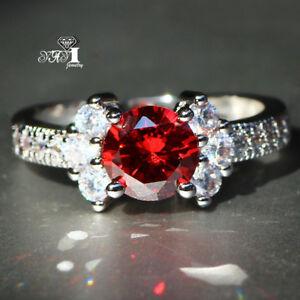 Hot Fashion 925 Silver Filled Multi Sapphire Birthstone Engagement Wedding Rings