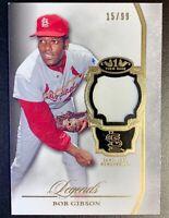 2013 Topps Tier One Legends BOB GIBSON Jersey Patch Relic SP /99 Cardinals HOF