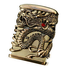 Zippo Tenryu Sky Dragon Full Metal Jacket Antique Brass F/S Japan Limited Heavy