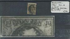 Belgium 1861 SG.13 10 Cent Showing Major ReEntry