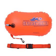 ISHOF SaferSwimmer PVC Safety Swimming Bouy With Dry Bag Storage 15L Orange