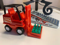 ESTATE FIND! COCA COLA Buddy L FORKLIFT with SODA Case plus LOADING RAMP! Clean!