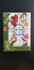Antigua 1997 Flowers MS CANCELLED - Difficult to find. 4 x $1.65