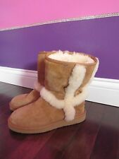 UGG Australia Carter Classic Short Chestnut Brown Boots Womens 6
