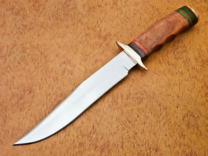 Rody Stan HAND MADE D2 BLADE BOWIE HUNTING KNIFE - BRASS GUARD - AD-541