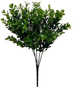 "Boxwood Bush 13"" Stems Artificial Greenery Faux Modern Farmhouse Decor Crafts"