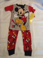 Disney 2T 3T 4T Choice Mickey Mouse Cotton Pajama Sleepwear Set NWT