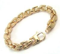 PVD Gold Bracelet Heavy Stainless Surgical Steel Hypoallergenic 8.25 inches