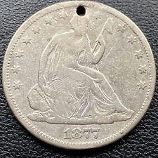 1877 CC Seated Liberty Half Dollar 50c Better Grade VG Details #22219
