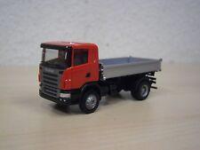 Herpa - Scania M`04 Dreiseiten-Kipper - neutral - rot/silber - Nr. 156738 - 1:87