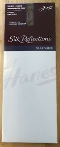 """Hanes """"Silk Reflections"""" Knee Highs, 2 Pair Pack, Color Is Barely There (Beige)"""