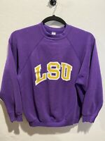 Vintage LSU Tigers Lousiana State University Purple Sweater Pullover Crewneck XL