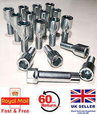 Audi 80 90 100 200 Tuner slim alloy wheel bolts + star key. M14 x 1.5 set of 16