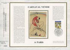 FEUILLET CEF / DOCUMENT PHILATELIQUE / CARNAVAL VENISE A PARIS 1986