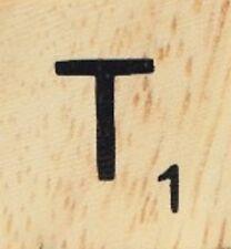 INDIVIDUAL WOOD SCRABBLE TILES! 0.25 cents each, read full description! LETTER T